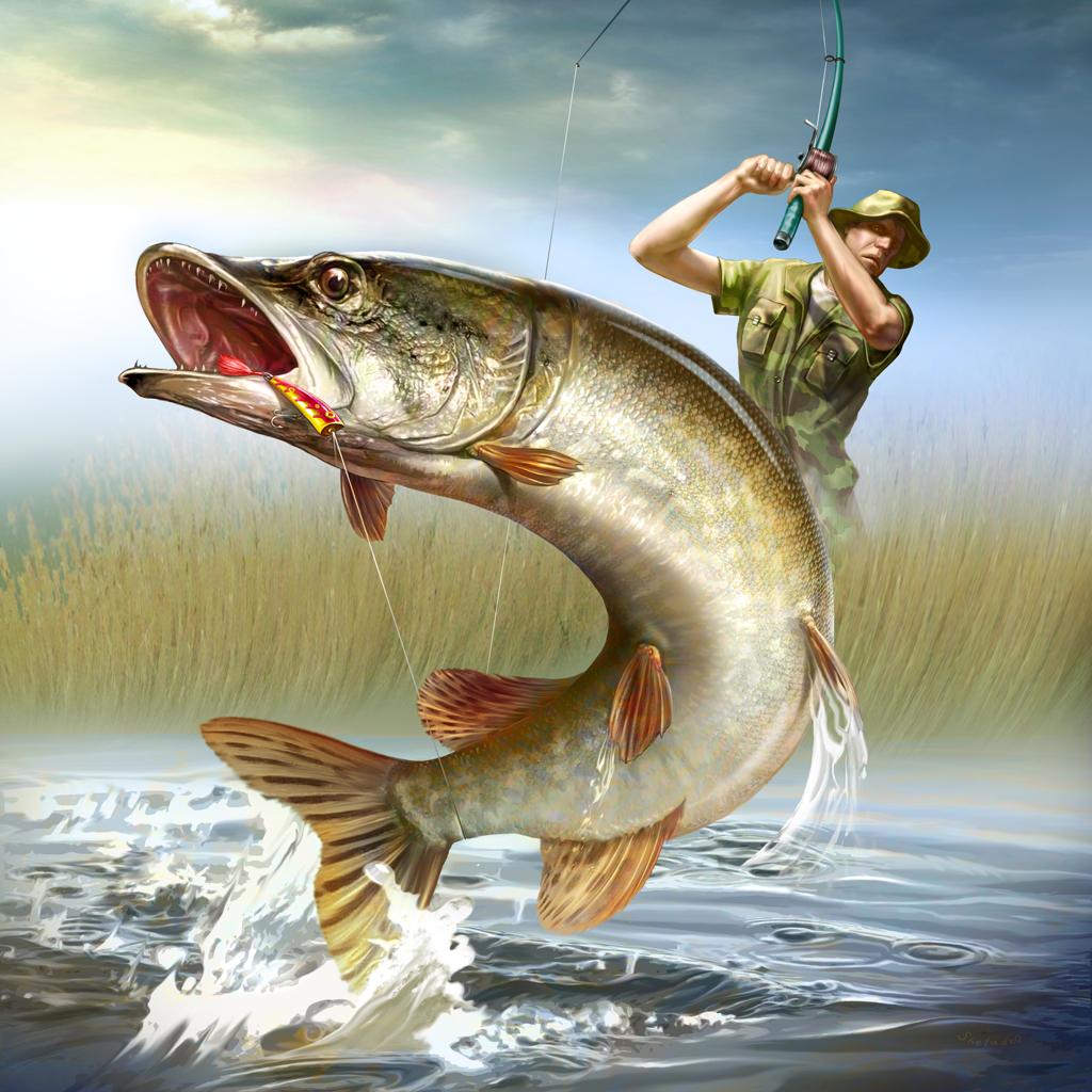 С днем рождения рыболов открытка